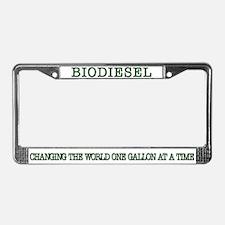 Biodiesel License Plate Frame