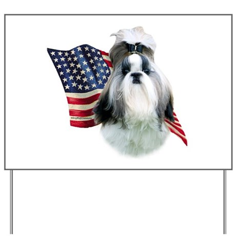 Shih Tzu Flag2 Yard Sign
