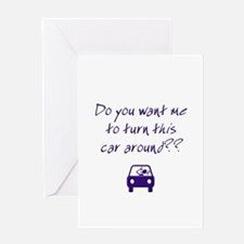 Turn Car Around Greeting Card
