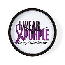 I Wear Purple For My Sister-In-Law 10 Wall Clock
