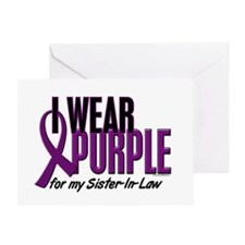 I Wear Purple For My Sister-In-Law 10 Greeting Car