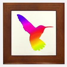 Hummingbird Art Framed Tile