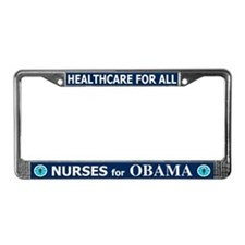Nurses for Obama License Plate Frame