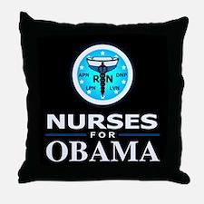 Nurses for Obama Throw Pillow
