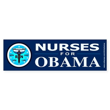 Nurses for Obama Bumper Sticker (50 pk)