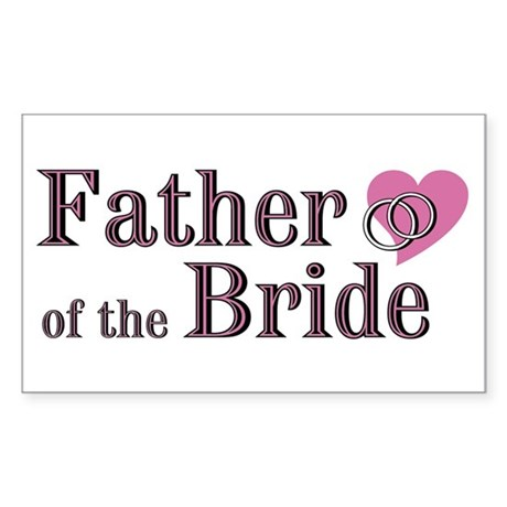 Father of Bride II Rectangle Sticker