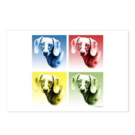 Dachsie Pop Art Postcards (Package of 8)