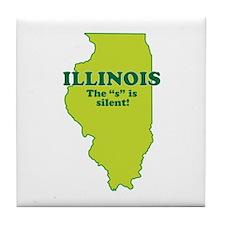 """Illinois"" Tile Coaster"