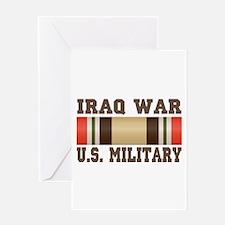Iraq War Service Ribbon Greeting Card