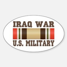 Iraq War Service Ribbon Oval Decal