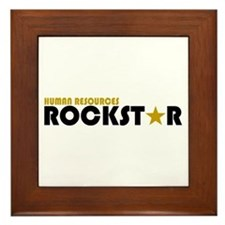 Human Resources Rockstar Framed Tile