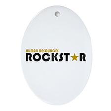 Human Resources Rockstar Oval Ornament