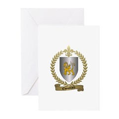 CHOUINARD Family Crest Greeting Cards (Package of