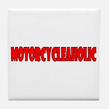 Motorcycleaholic Tile Coaster
