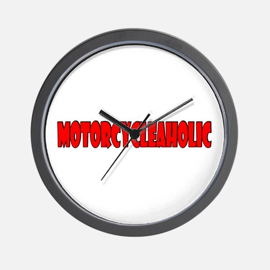 Motorcycleaholic Wall Clock