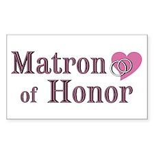 Matron of Honor II Rectangle Decal