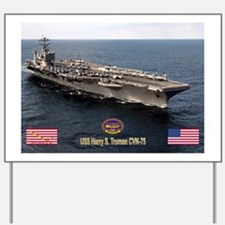 USS Truman CVN-75 Yard Sign