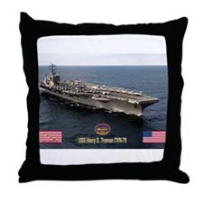 USS Truman CVN-75 Throw Pillow