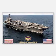 USS Truman CVN-75 Rectangle Decal