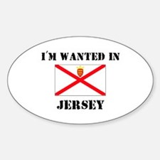 I'm Wanted In Jersey Oval Decal