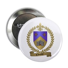 CLOUTIER Family Crest Button