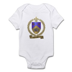 CLOUTIER Family Crest Infant Creeper