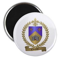 CLOUTIER Family Crest 2.25