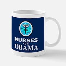 Nurses for Obama Dark Mug