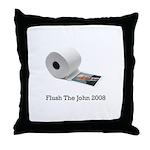 Flush The John Throw Pillow