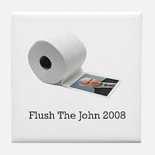 Flush The John Tile Coaster