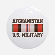Afghanistan US Military Ornament (Round)