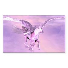 Winged Unicorn Rectangle Decal