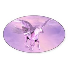 Winged Unicorn Oval Decal