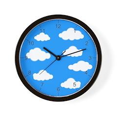 Kids Clouds Wall Clock