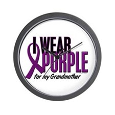 I Wear Purple For My Grandmother 10 Wall Clock
