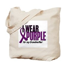 I Wear Purple For My Grandmother 10 Tote Bag