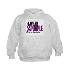 I Wear Purple For My Grandmother 10 Hoodie