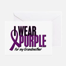 I Wear Purple For My Grandmother 10 Greeting Card