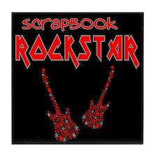 Scrapbook Rockstar (2) Tile Coaster