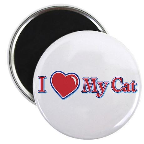 "I Heart My Cat 2.25"" Magnet (100 pack)"