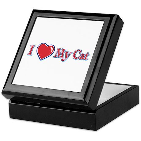 I Heart My Cat Keepsake Box