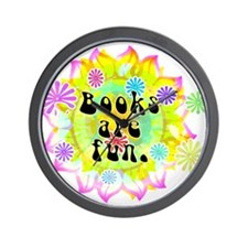 Books Are Fun Wall Clock