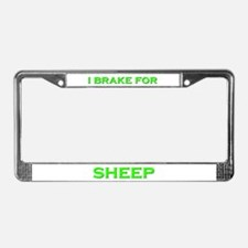 I Brake For Sheep License Plate Frame