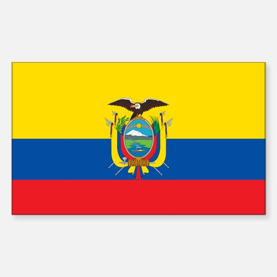 Flag of Ecuador Sticker (Rectangle)