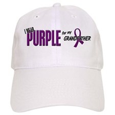 I Wear Purple For My Grandfather 10 Baseball Cap