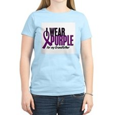I Wear Purple For My Grandfather 10 T-Shirt