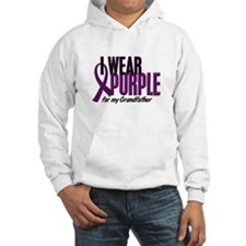 I Wear Purple For My Grandfather 10 Hoodie