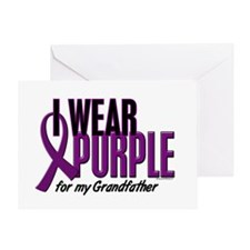 I Wear Purple For My Grandfather 10 Greeting Card