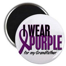 """I Wear Purple For My Grandfather 10 2.25"""" Magnet ("""