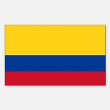 Flag of Colombia Sticker (Rectangle)